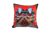 Twins Red Silk Cushion