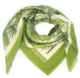 Palmier Green Wool Scarf