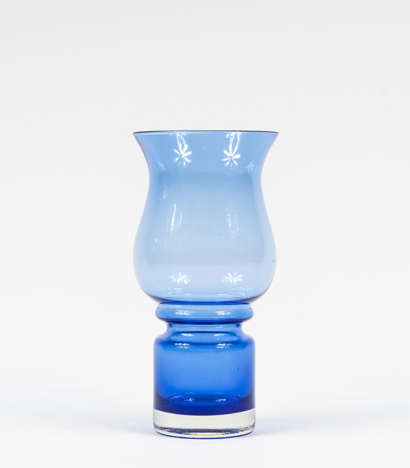 Riihimaen Lasi Oy Riihimaki Blue Glass Vase Designed By Tamara Aladin Glass Pottery, Porcelain & Glass