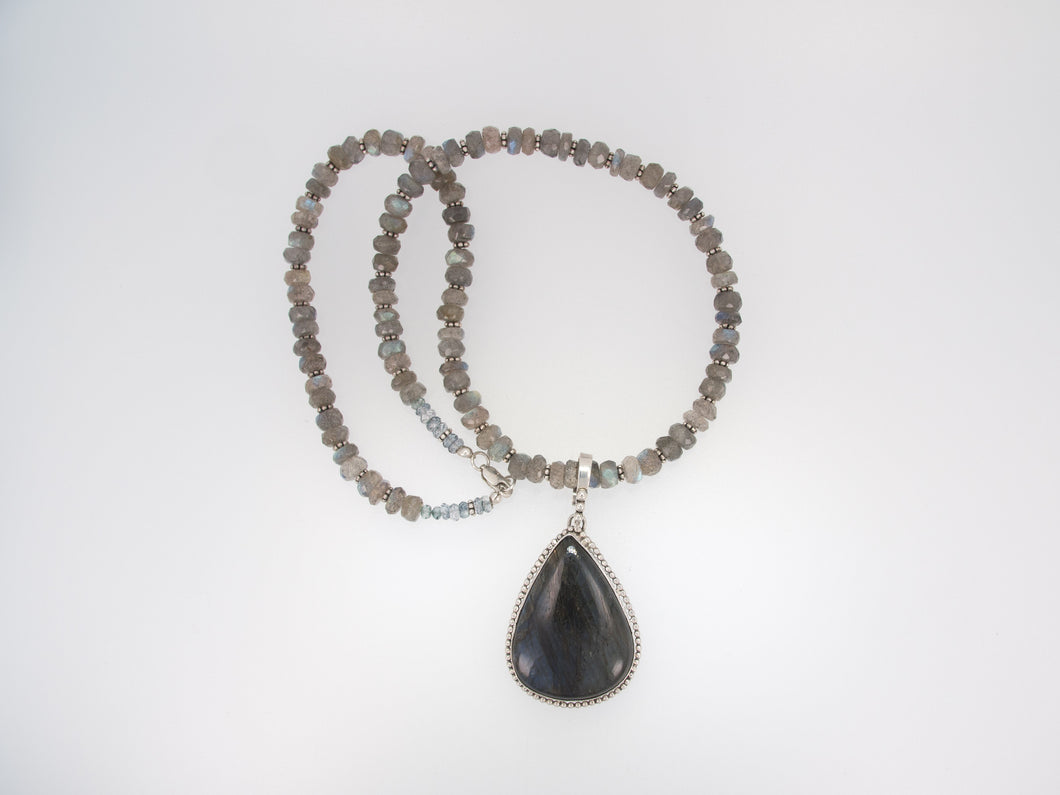 Labradorite with Bead Accent Necklace