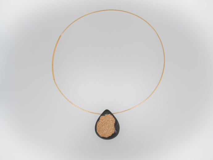 Gold Drusy Necklace