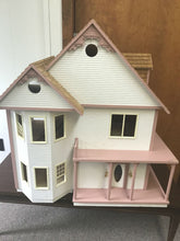 Beautiful Large Vintage Victorian Wooden Dollhouse
