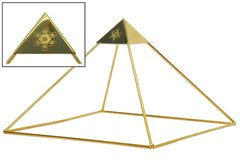 24k Gold-plated Copper Ascension Meditation Head Pyramid for Healing