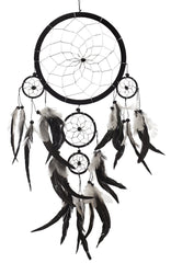 Dream Catcher ~ Handmade Traditional Black, White & Silver