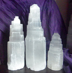 STUNNING ICE MOUNTAIN - MASSIVE SELENITE CRYSTAL LAMP