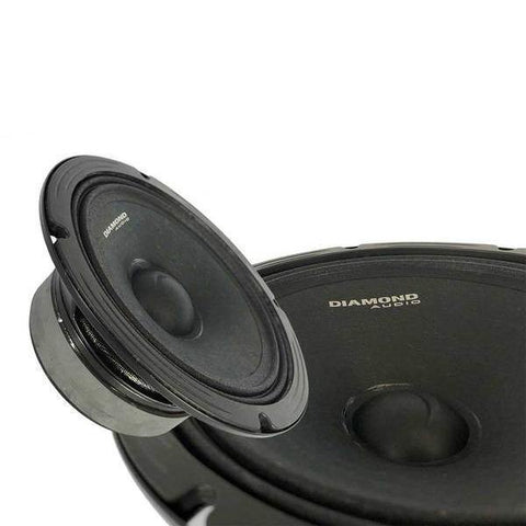 "Diamond Audio 8"" Pro Audio High Output Midrange Speaker Set (Pair)"