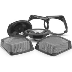 Power Harley-Davidson® Rear Audio Kit (1998-2013)-Speaker Lids 98-13-Rockford Fosgate-Bagger Audio