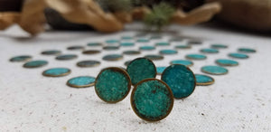 Turquoise patina post earrings