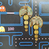 Pacman patina earrings