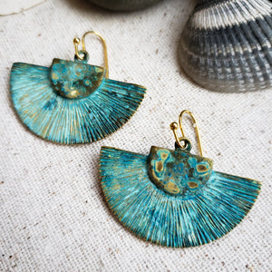 Water Tribe reversible fan earrings