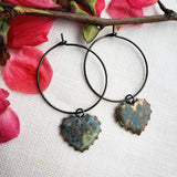 Lover's Eye Water Tribe natural patina hoops