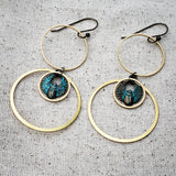 Egyptian Scarab puzzle earrings