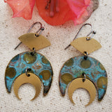 Lunar Water Warrior earrings