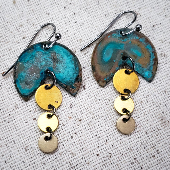 Pacman Junior Patina earrings