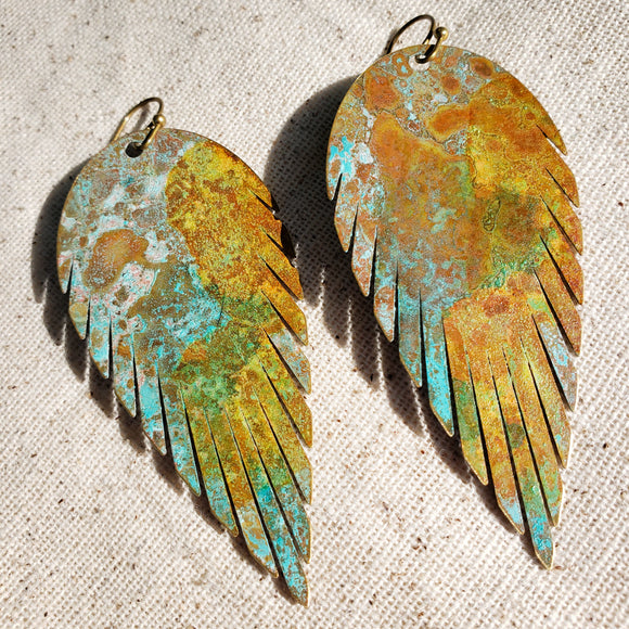 Southwestern Styled Feather earrings