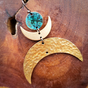 Moon Goddess statement earrings