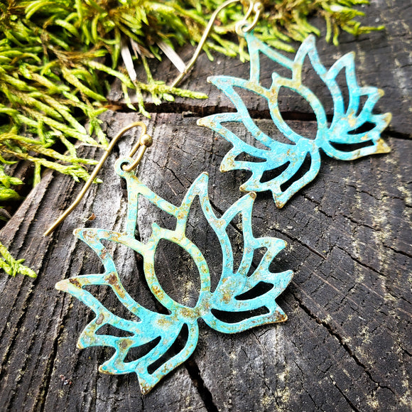 Lovely Lotus earrings