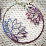 Delicate Lotus hoops