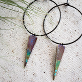 Skinny Colorblock Triangle hoops