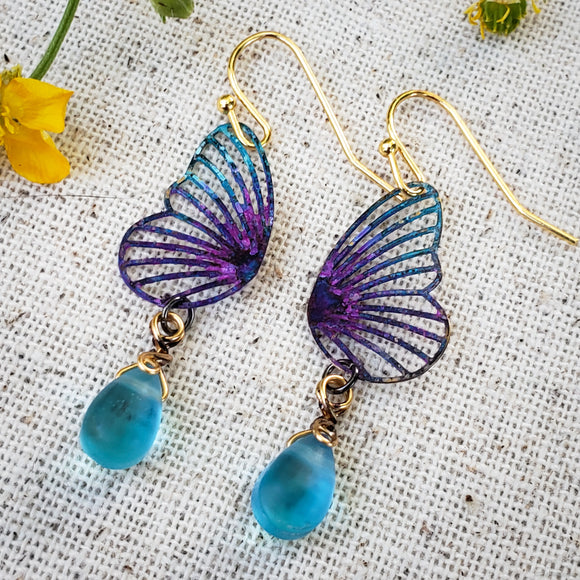 Butterfly Dewdrop earrings