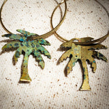 Ocean Palms hoop earrings