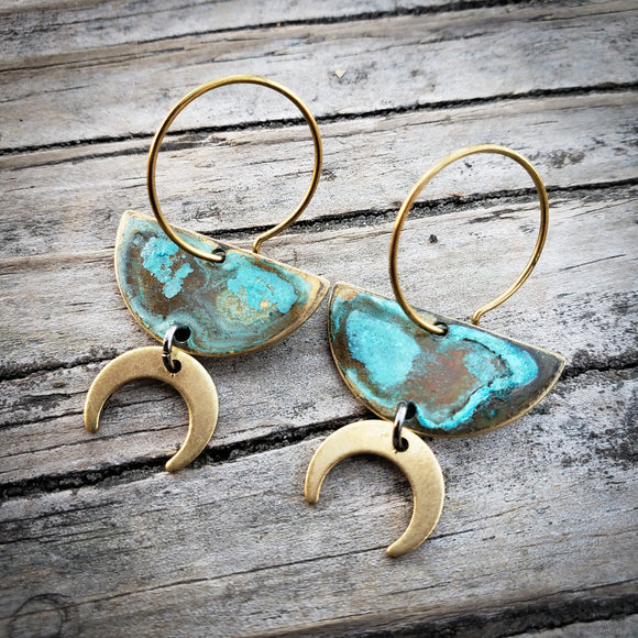 Mini Moons hoop earrings