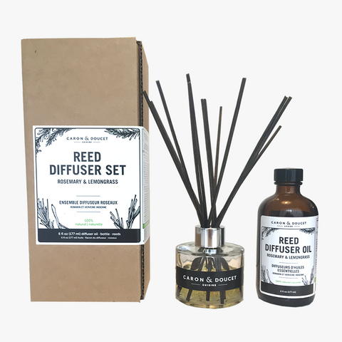 Lemongrass and Rosemary Reed Diffuser Set