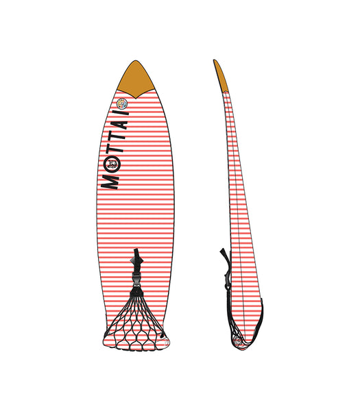 boardbag cover with elastic mesh netting strap closure mottai surf surfing