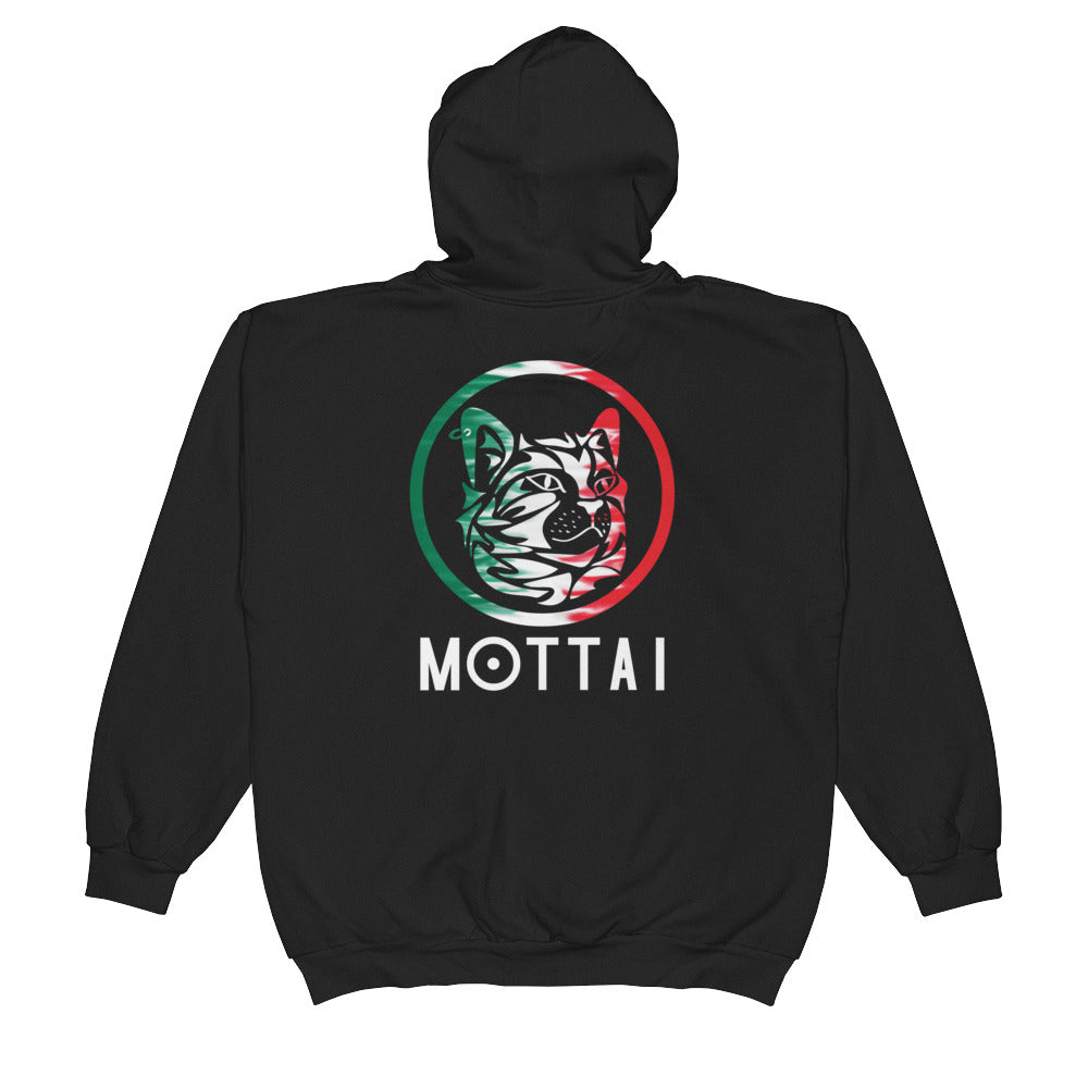 MOTTAI Surf Maurice Unisex Zip Hoodie Mexico colors BLACK
