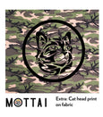 Fabric mottai surf with cat head print at backside of board STRIKER