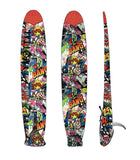 Flava boardbag longboard cover with elastic mesh netting strap closure mottai surf surfing fish