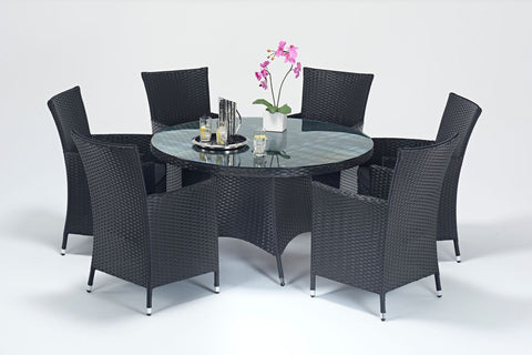 Balmoral Round 6 Seater DIning Set-Garden Furniture-Outdoor Living Experience
