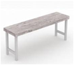 Foremost Natural White Bench-Garden Furniture-Outdoor Living Experience