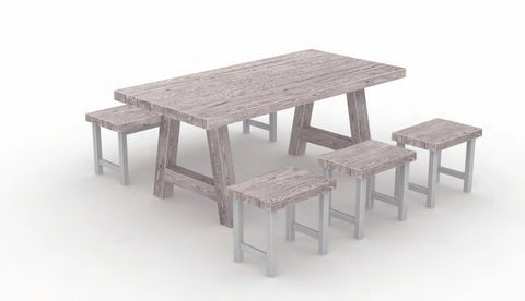 Foremost Natural White Dining Set for 6 people-Garden Furniture-Outdoor Living Experience