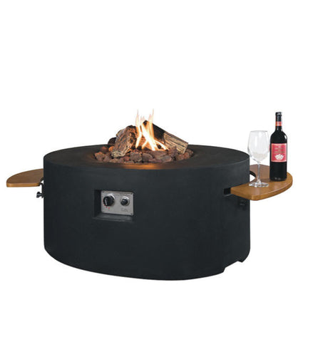 Happy Cocooning Round / Oval Side Table-Fire Pit-Outdoor Living Experience