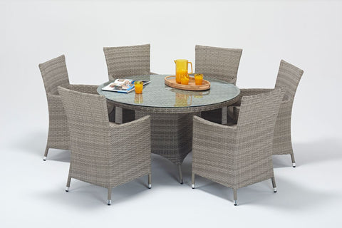 Sandringham Round 6 Seater Dining Set-Garden Furniture-Outdoor Living Experience