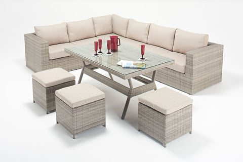 Sandringham Table Corner Suite-Garden Furniture-Outdoor Living Experience