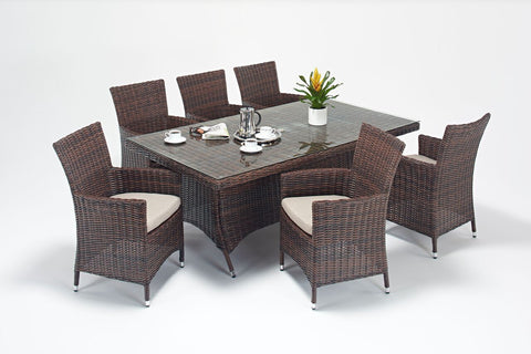 Windsor Rectangle 6 Seater Dining Set-Garden Furniture-Outdoor Living Experience