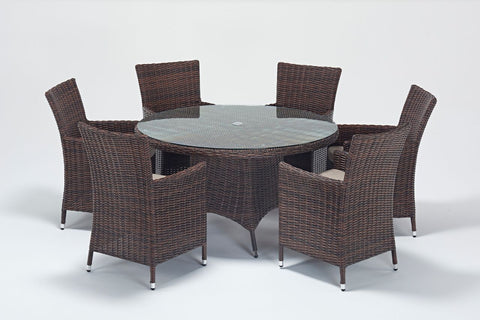 Windsor Round 6 Seater Dining Set-Garden Furniture-Outdoor Living Experience
