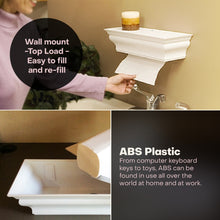 ABS Plastic Wall Mount HealthyShelf Paper Towel Dispenser White