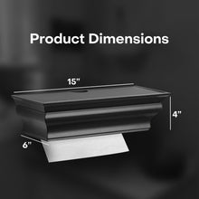 ABS Plastic Wall Mount Black HealthyShelf M-Fold Paper Towel Dispenser