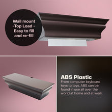 ABS Plastic Wall Mount HealthyShelf MultiFold Paper Towel Dispenser Espresso