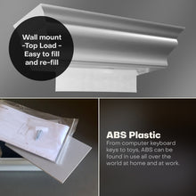 ABS Plastic Wall Mount MultiFold Paper Towel Dispenser Fashion Gray HealthyShelf