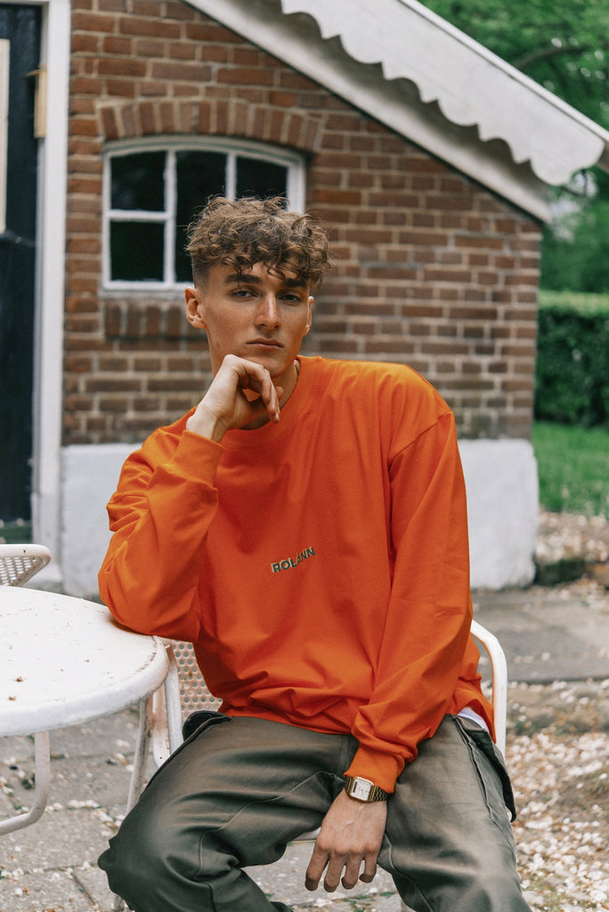 Oversized longsleeve orange