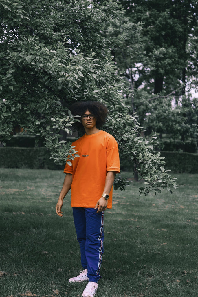Oversized unisex tshirt orange
