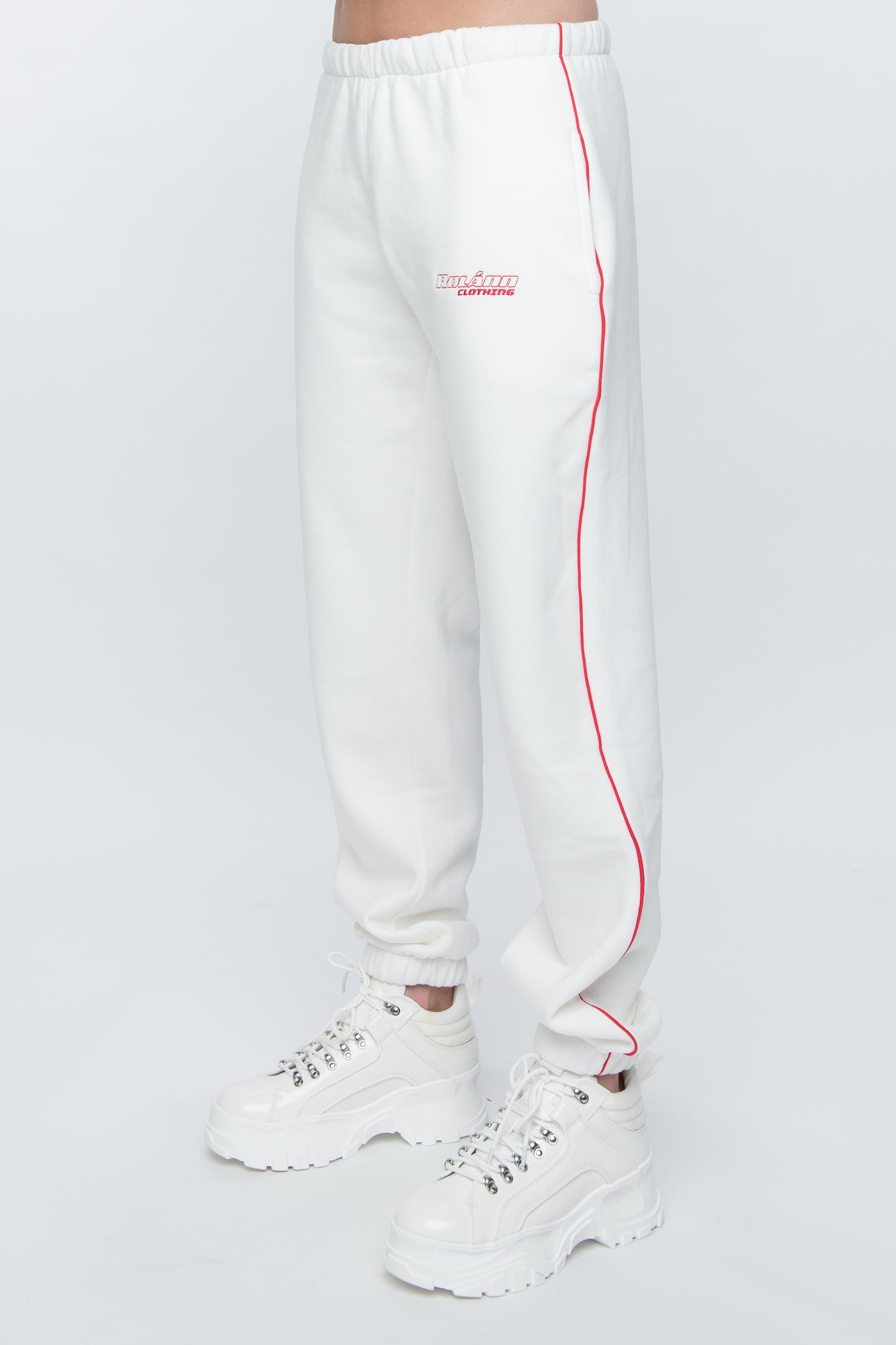 Sweatpants tapered white