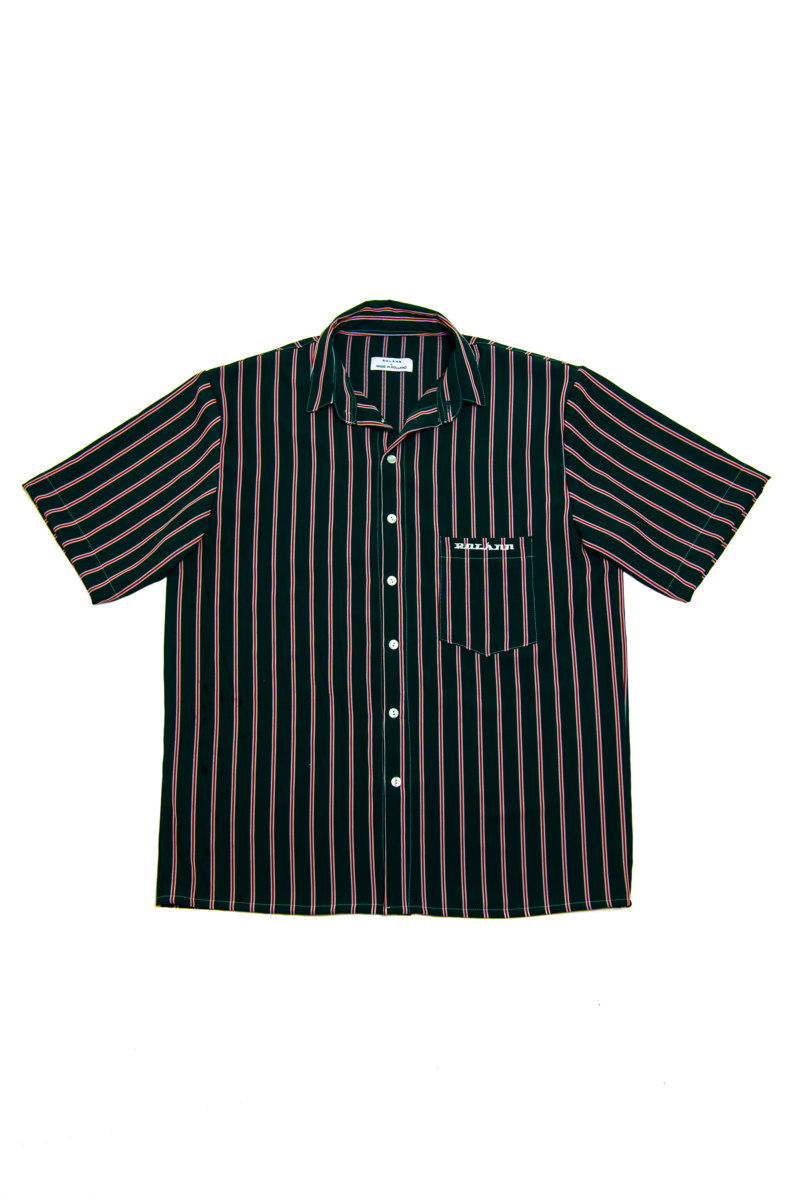 STRIPED SHIRT DARK GREEN