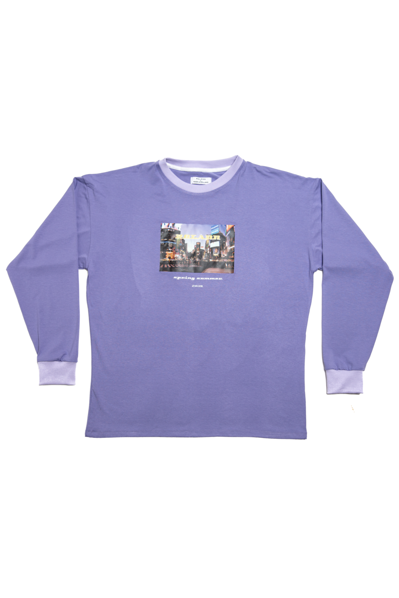 Graphic longsleeve lilac