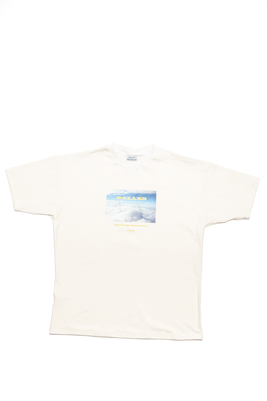 Graphic T-shirt creme