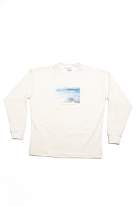 Graphic longsleeve creme